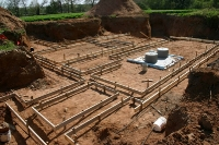 Rauk Footings with Solar Tank