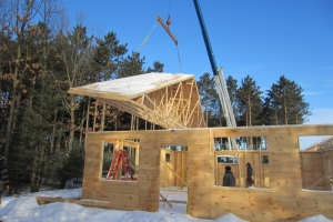 New Youth Center trusses