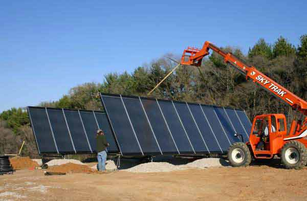 Solar Hydronic Panel Installation Gimme Shelter Construction